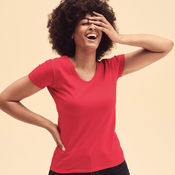 Bedrukken T-Shirt  V-Hals Lady-Fit