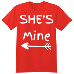 SHe's mine Valentijn t-shirt  Thumbnail